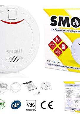 Smoki-Dtecteur-photolectrique-de-fume-batterie-au-lithium-de-10-ans-Installation-magntique-pas-de-vis-Certifi-EN14604-ROHS-NF292-VDS-et-conformment-aux-normes-CE-manuel-en-plusieurs-langues-0